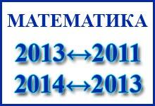 Соответствие заданий ЕГЭ по математике с 2011 по 2014